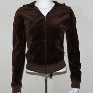 Juicy Couture Velour Brown Track Jacket